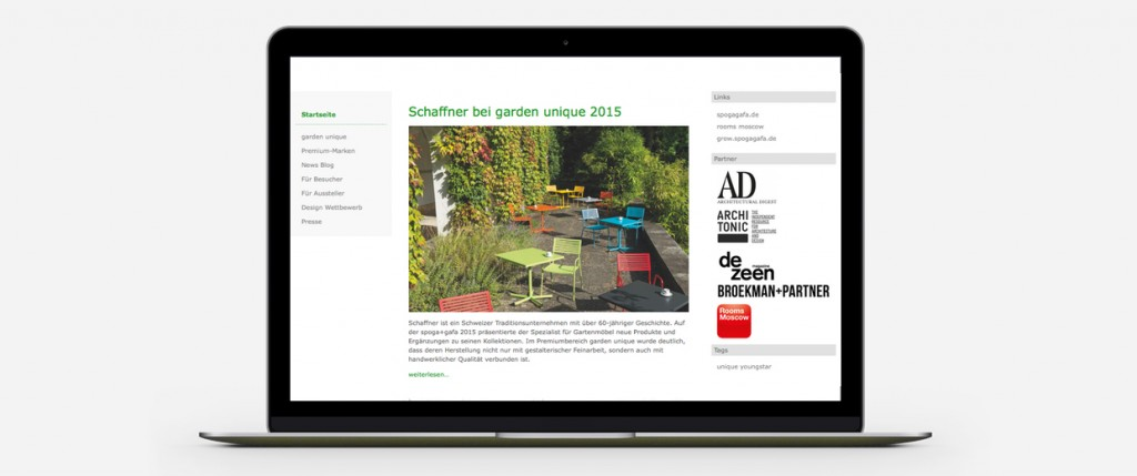 Broekman+Partner Garden Unique Website