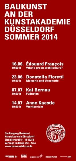 Broekman+Partner Baukunst Kunstakademie Düsseldorf Sommersemester 2014