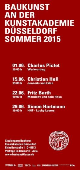 Broekman+Partner Baukunst Kunstakademie Düsseldorf Sommersemester 2015