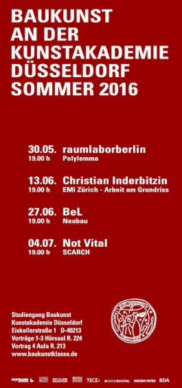 Broekman+Partner Baukunst Kunstakademie Düsseldorf Sommersemester 2016