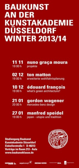 Broekman+Partner Baukunst Kunstakademie Düsseldorf Wintersemester 2013/14