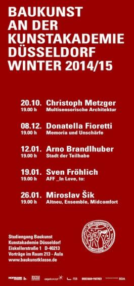 Broekman+Partner Baukunst Kunstakademie Düsseldorf Wintersemester 2014/15