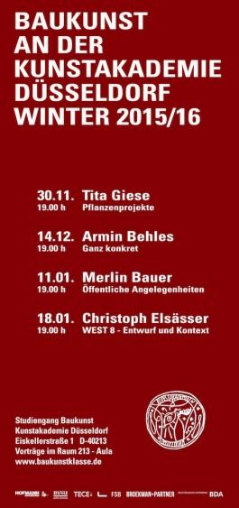 Broekman+Partner Baukunst Kunstakademie Düsseldorf Wintersemester 2015/16