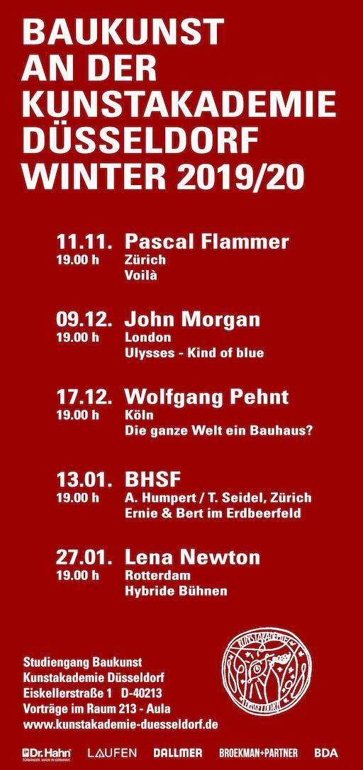 Broekman+Partner Baukunst Kunstakademie Düsseldorf Wintersemester 2019/20